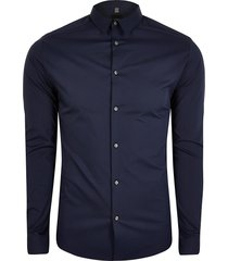 river island mens big and tall navy long sleeve slim fit shirt