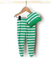 conjunto panty  gorro verde zuppa chicos