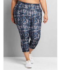 lane bryant women's livi high-rise wicking capri legging 38/40 batik print
