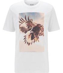 hugo boss tomio 4 t-shirt met steenarend 50439038/101