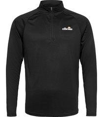 el bovaro 1/2 zip top sweat-shirt tröja svart ellesse
