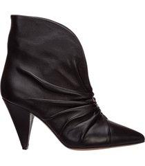 stivaletti stivali donna con tacco in pelle lasteen