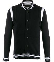 givenchy paneled bomber jacket - black