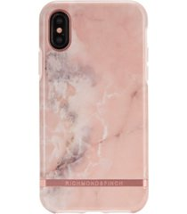 richmond & finch pink marble case for iphone x and xs