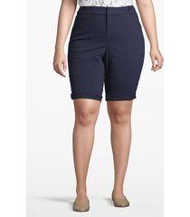 lane bryant women's chino bermuda short 14 dark water