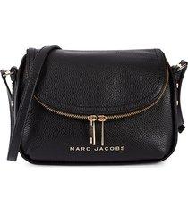 marc jacobs mini the groove leather messenger bag - kombu green
