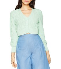 bcbgeneration cable-knit cropped cardigan