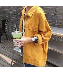 female oversized bat sleeved denim jacket plus size ripped hole jeans basic coat