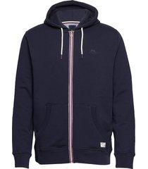 signature hood cardigan hoodie trui blauw lindbergh