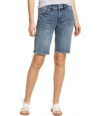 women's nydj briella bermuda denim shorts, size 00 - blue