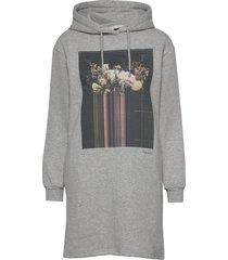 photographic sweat dress kort klänning grå superdry