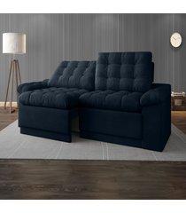 sofã¡ 4 lugares net confort assento retrã¡til e reclinã¡vel petrã³leo 2,20m (l) - azul - dafiti