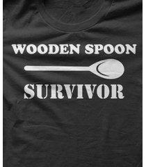 wooden spoon survivor - funny t-shirt cotton size s-5xl