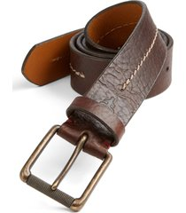 men's trask dagmar leather belt, size 42 - bourbon