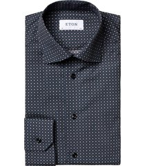 eton men's slim-fit printed dress shirt - blue - size 17