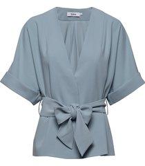 bedou jacket zomerjas dunne jas blauw stylein
