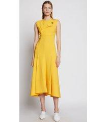 proenza schouler crepe seamed dress sun/yellow 6