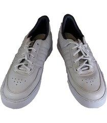 tenis zapato zapatillas colegio colegial blanco sintético