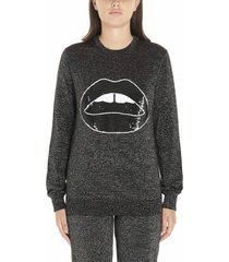 markus lupfer tracy sequin lara lip lurex sweatshirt