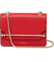 'east/west' mini leather crossbody bag