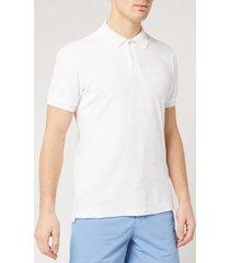 orlebar brown men's jarrett towelling polo shirt - white - m