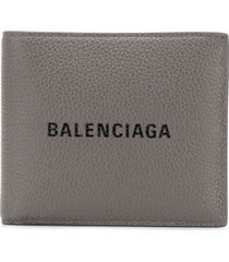 balenciaga everyday square wallet - grey