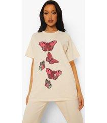 oversized vlinder t-shirt, ecru