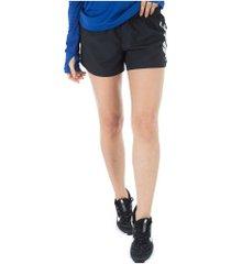 shorts nike 10k rebel gx - feminino - preto/branco