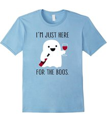 i'm just here for the boos wine shirt, halloween wine shirt men