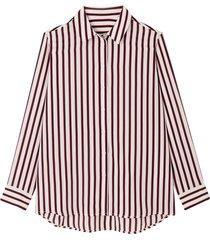 randig skjorta med lång ärm