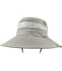 malla transpirable de protector solar sombrero de pescador de hombres y mujeres de protección uv visor
