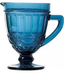 jarra de vidro azul libã©lula 1l - incolor - dafiti