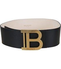 balmain b-belt 7,5cm - calfskin