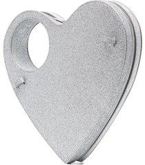 coperni glittered heart handbag