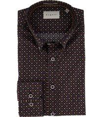 overhemd bugatti donkergrijs geprint