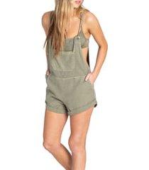 women's billabong wild pursuit overalls, size x-small - green