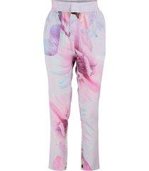 pink flower pants