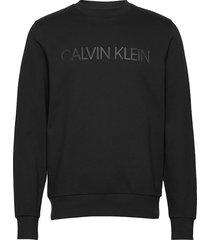 2-t logo sweatshirt sweat-shirt trui zwart calvin klein