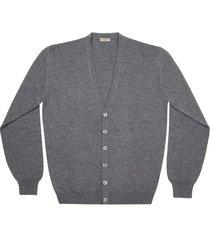 maglione da uomo, lanieri, 100% cashmere grigio scuro, autunno inverno | lanieri