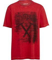 t-shirt men plus röd