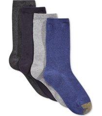 gold toe women's 4-pk. flat knit solid socks, created for macy's