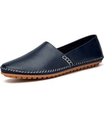 mocassini slip-on in pelle vera a taglia forte