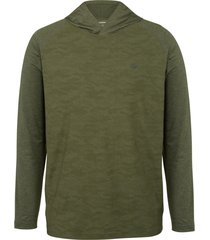 wolverine men's sun-stop pullover hoody green camo, size l