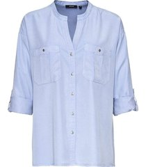 blouse folor blauw
