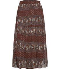 bxinna skirt - knälång kjol brun b.young