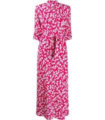 equipment major maxi belted shirt dress - pink