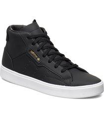 adidas sleek mid w höga sneakers svart adidas originals