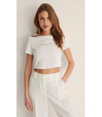 calvin klein t-shirt med logga - white