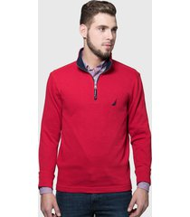 sweater nautica rojo - calce regular