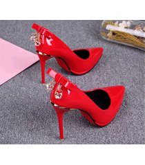 pp432 candy color pump w rhinestone & bowtie back us size size 4 to 8.5 red
